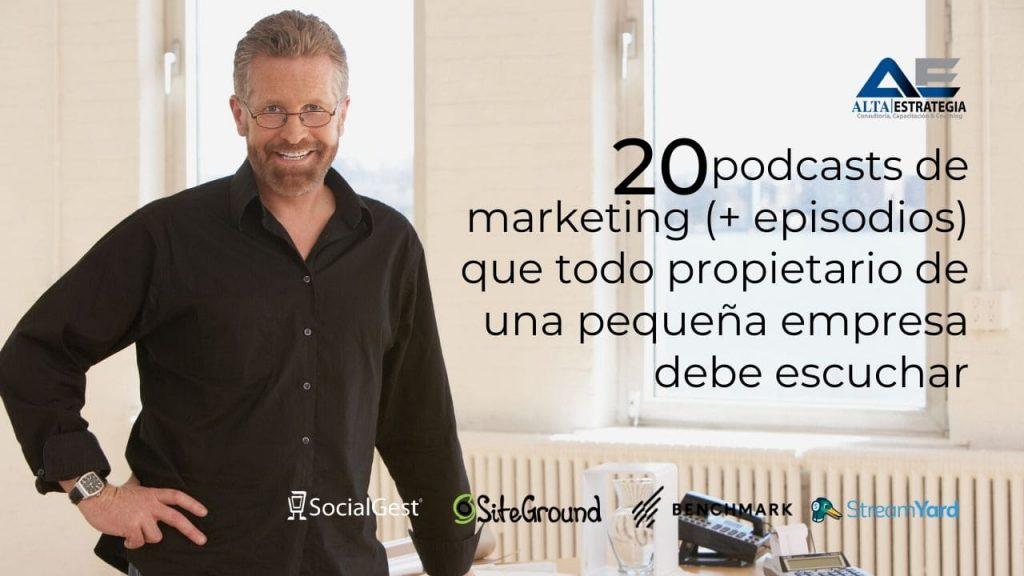 20 podcast de marketing que todo propietario de una pyme debe escuchar